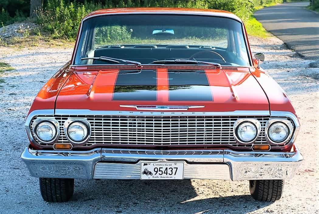 biscayne, Pick of the Day: 1963 Chevrolet Biscayne, bright-orange resto-mod, ClassicCars.com Journal